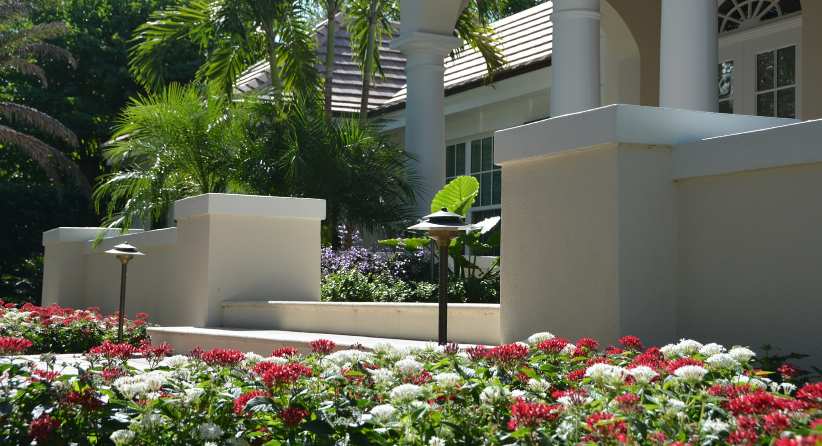 Aiello landscape vero beach entryway landscaping